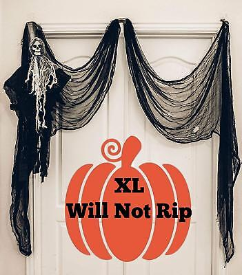 Black Creepy Cloth, Spooky Halloween Decorations For Haunted Houses Party 8.3 X](Spooky Halloween Decorations Outdoors)