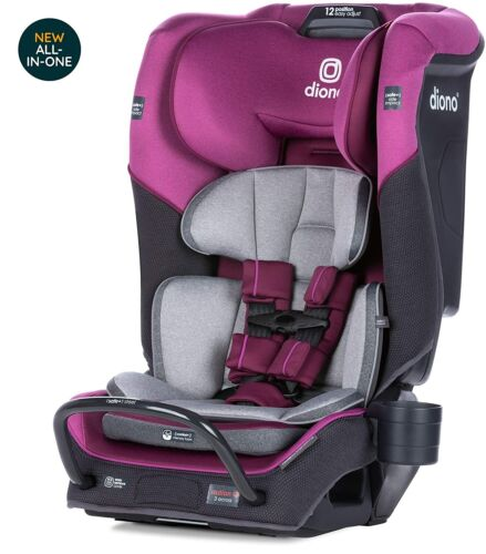 Diono Radian 3QX All-In-One Booster Child Safety Car Seat Purple Plum NEW