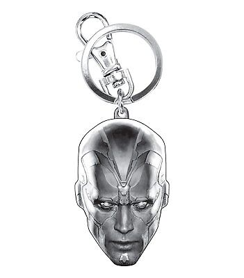 Marvel Avengers 2 Vision Head Pewter Key Ring Action Figure