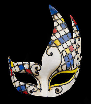 Mask Venice Colombine Swan art contemporary paper mash 22286 VPM3