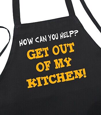 Funny Sayings Apron Get Out Of My Kitchen Aprons with Attitude by CoolAprons - Kitchen Apron Sayings