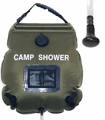 Portable Solar Camping Shower Ecofriendly Comfort Grip Handle,Removable Hose. Eco Friendly Comforter