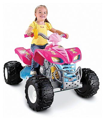 NEW Fisher Price Power Wheels Barbie Kawasaki KFX Ride on ATV Quad Car 12 Volt on Rummage