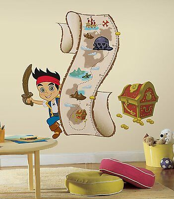 Roommates Disney Jake And The Neverland Pirates Peel And Stick Growth Chart