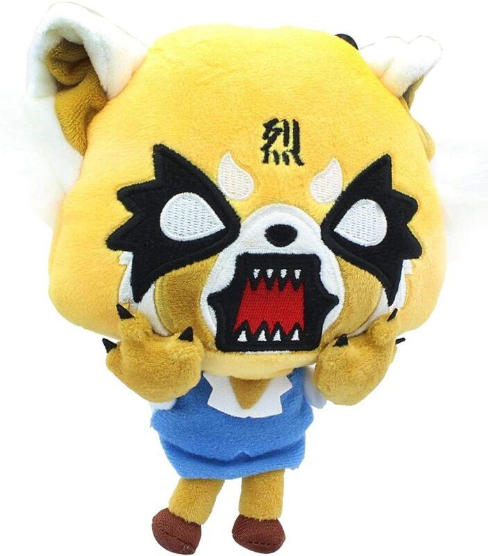 Japan Aggretsuko Aggressive Retsuko Sanrio Plush Toy Stuffed Doll rare angry