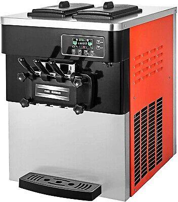 Commercial Soft Ice Cream Machine 28lled Display Orange