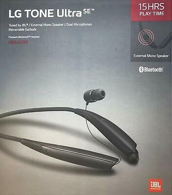 LG TONE Ultra SE HBS-835S Bluetooth Wireless Stereo Headset w External Speaker