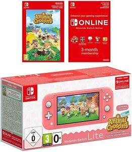 Comprar Nintendo Switch Lite Coral & Animal Crossing: New Horizons