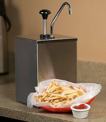Sauce Dispenser Pump Squeeze Condiment Dispensing Stainless Steel Single-head