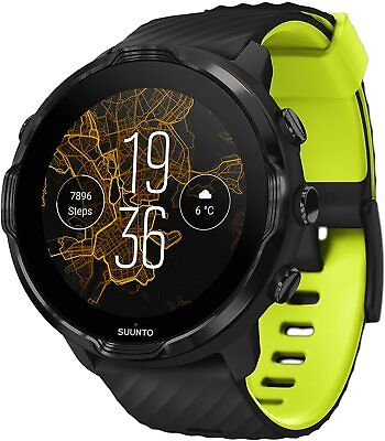 Suunto 7 multi sport running GPS heart rate smartwatch Black Lime diving .