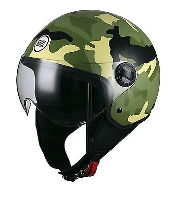 CASCO moto scooter JET  BHR militare 801 camouflage verde xs no scodella