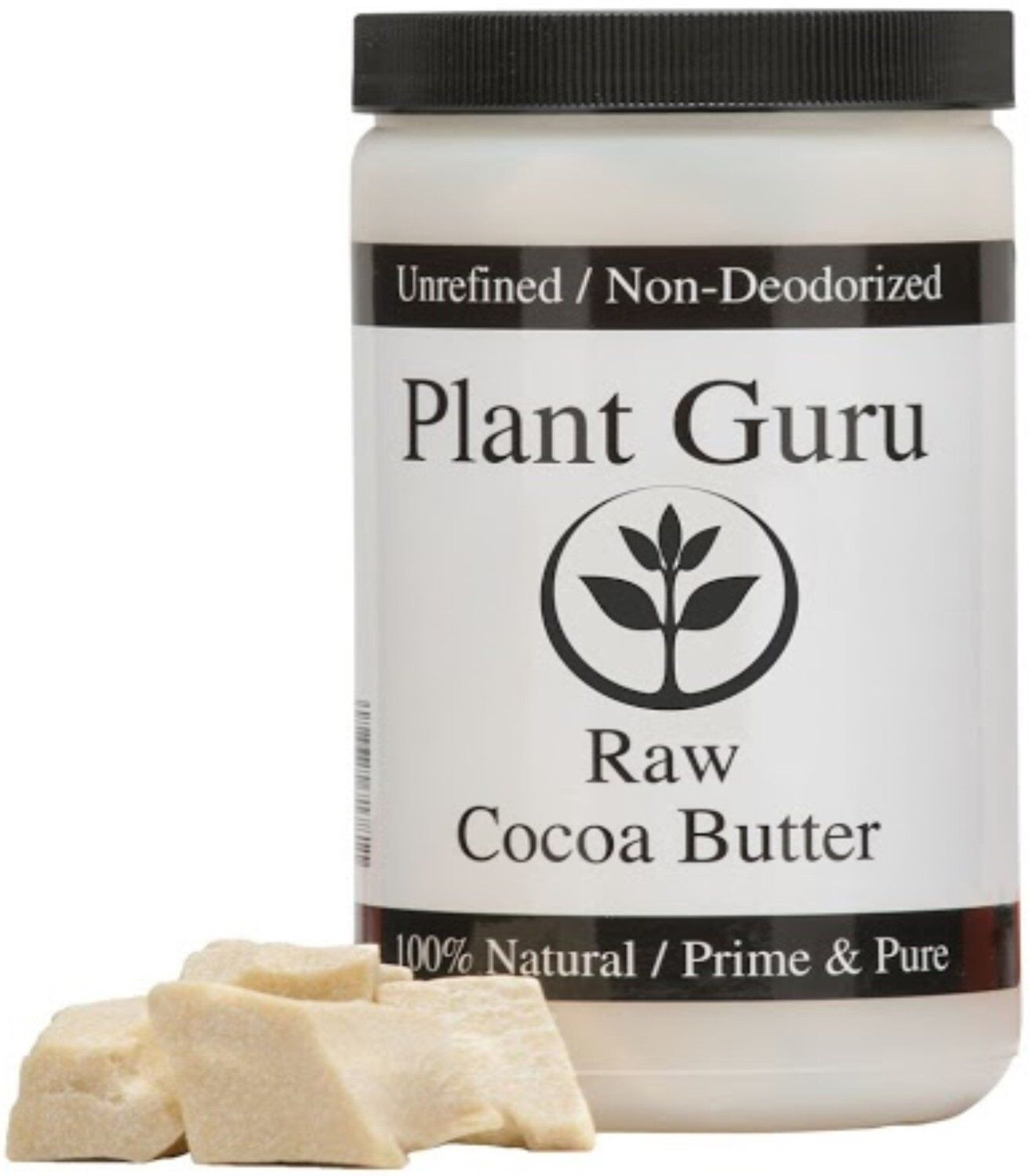 Raw Cocoa Butter 100% Pure 16 oz.