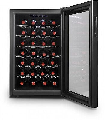 Black Auto Defrost Efficient 28 Bottle Thermoelectric Wine Cooler Refrigerator