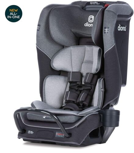 Diono Radian 3QX All-In-One Booster Child Safety Car Seat Gray Slate NEW
