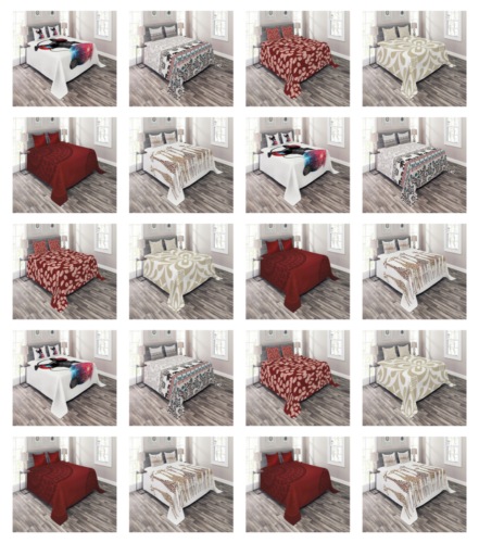 Decorative Printed by Ambesonne 3 Piece with 2 Shams Bedspre