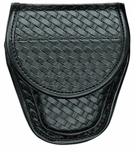 Bianchi 23859 Black 7918 Basketweave Accumold Elite Covered Handcuff Cuff Case