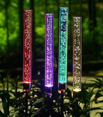 2x Solare LED Bubble Luci Cambia Colore Acrilico Glow