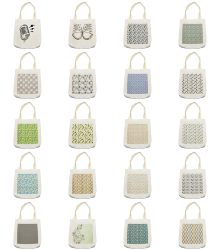 Ambesonne Sketch Print Tote Bag Reusable Linen Sack Shopping