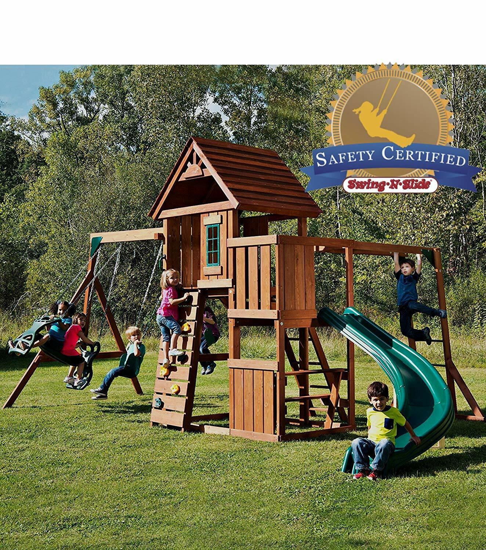 Swing-N-Slide PB 8272 Cedar Brook Play Set with Two Swings S
