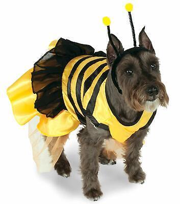 Bumble Bee Dog Halloween Costumes (Bumble Bee Dog Costume - L or XL - Dress & Headpiece - Summer or Halloween -)