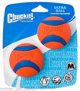 Chuckit Ultra Ball 2-Pack Medium Dog Fetch Balls Interactive Dog Toys