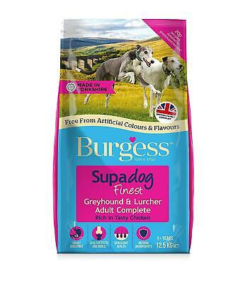 Burgess Dog Food Greyhound Lurcher British Chicken No Artificial Flavours