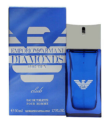 EMPORIO ARMANI DIAMONDS CLUB FOR MEN-EDT-SPRAY-1.7 OZ-50 ML-AUTHENTIC-FRANCE
