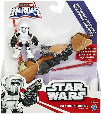 Star Wars Galactic Heroes Scout Trooper and Speeder Bike FREE UK P&P
