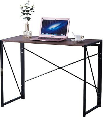 Folding Computer Desk Table Compact Foldable Home Office Computer PC Laptop Wood