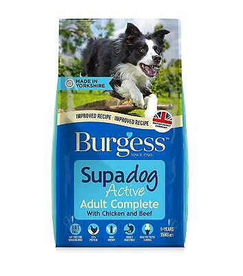 Burgess Active Supa Adult Complete Dog Food British Chicken and Beef 15kg