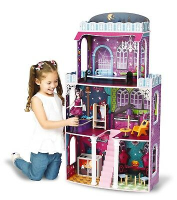 Monster High Halloween Puppe (riesengroßes Halloween Puppenhaus 118x62x28cm passend für Monster High Barbie)