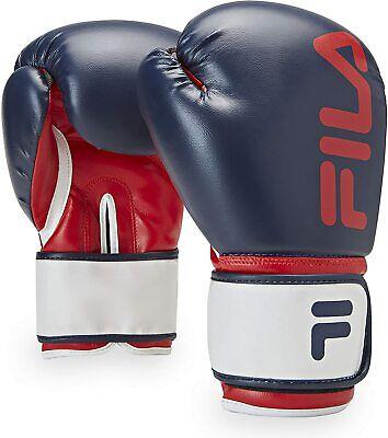 FILA Fitness Boxing Gloves Kickboxing Heavy Bag Punching Men & Women Blue 12 oz