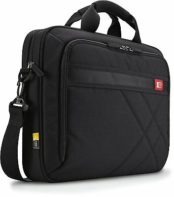 Case Logic DLC-115 15.6-Inch Laptop and Tablet Briefcase (Black), New