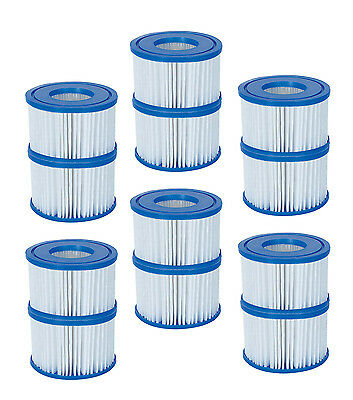 Coleman Inflatable Spa Filter Pump Replacement Cartridge Type VI 90352 (12 Pack)