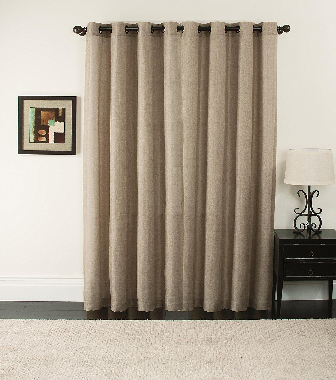 Sliding Panel Blinds Door Window Curtain Shade Patio Drape Room Beige Thermal