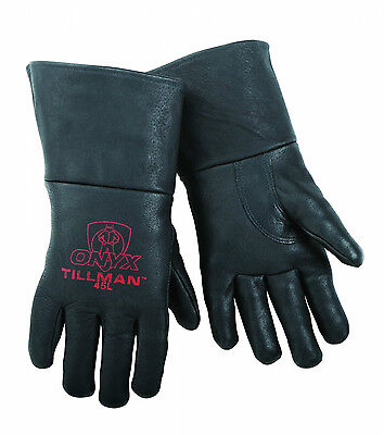 Tillman 45 Medium Mig Welding Gloves Black Onyx Top Grain Pigskin Leather 1 Pair