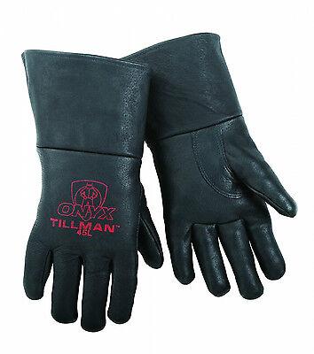 (Tillman 45 LARGE MIG Welding Gloves Black ONYX Top Grain Pigskin Leather 1 Pair)