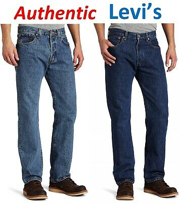 Levi´s 501 Men's Original Levi Jeans Regular Fit Straight Leg BRAND NEW TAGs  (Levis Jeans Men 501 Original Blau)