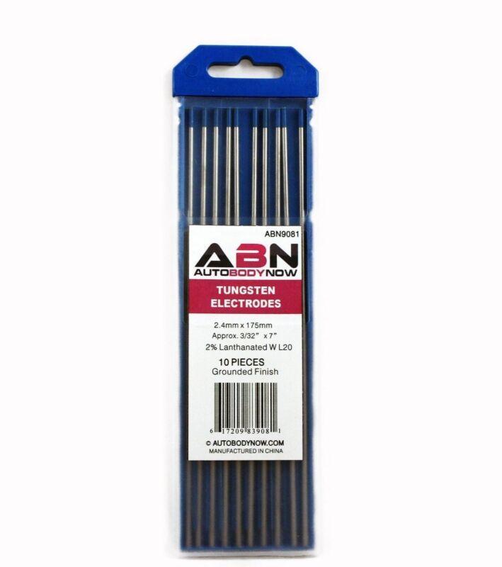 "TIG Welding Tungsten Electrodes, 10-Pack, 2% Lanthanated 3/32"" X 7"" | Blue WL20"