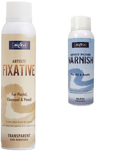 Combo of Camel Artists Fixative Spray and Picture Varnish Spray