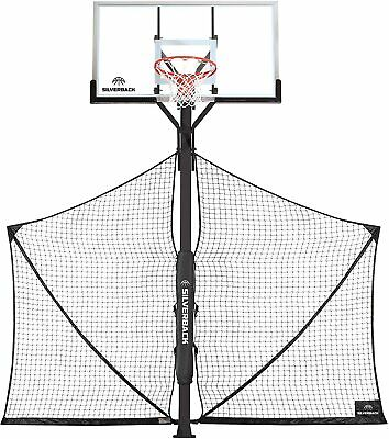 Silverback Basketball Yard Guard Defensive Net System Rebounder with Foldable...