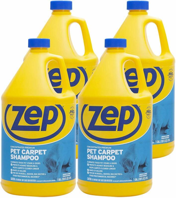 Zep Premium Pet Carpet Shampoo 128Oz ZUPPC128(Case of 4)Concentrated Pro Formula