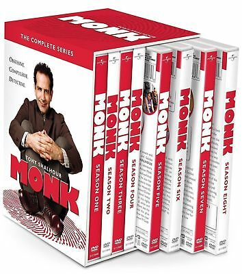 MONK the Complete DVD Series Collection Seasons 1-8