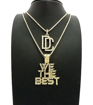 New Hip Hop Iced DC & We the Best Pendant w/ 24