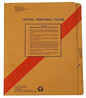 New Smead Sf66 Personnel File Folders With Coated Fasteners Letter Size 100box