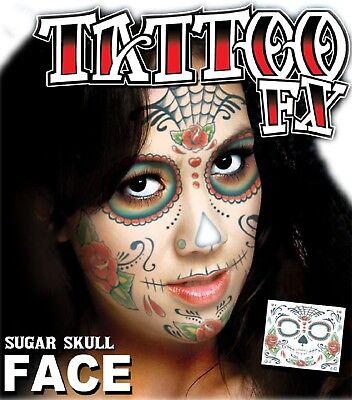 Sugar Skull Make Up Kit (Adults Sugar Skull Special Effects Make Up Transfer Fancy Dress Costume)