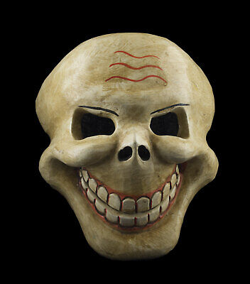 Mask Citipati Tête de Death 22 cm Wooden Painted - Himalaya-Nepal Tibet 9948 W5