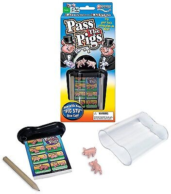 Classic Pass The Pigs Party Game Pig Sty Dice Cup Cards Case Fast Free Shipping