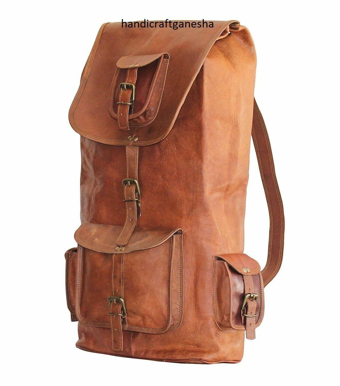 Genuine Hiking Travel Bag For Men's New reusable  Leather Ba