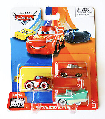 Disney Cars Mini Racers 3-Pack NIGHTTIME IN RADIATOR SPRINGS SERIES New